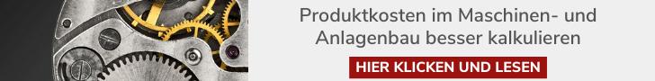 Banner: Produktkosten im Maschinenbau besser kalkulieren